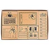 MissOrange『木製ゴム印セット』ToDoリストメモ 曜日 クリエイティブスタンプセット クラフトカード スクラップブッキング 手帳用 6個セット M-57
