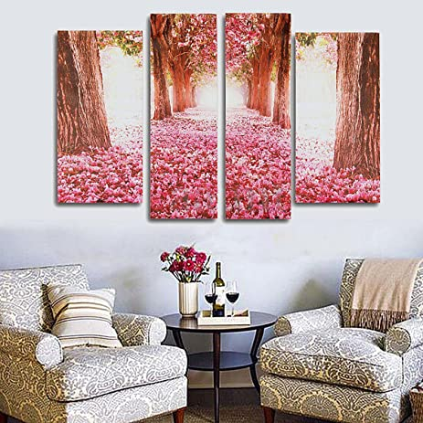 Amazon.com: Huang Tu@ No Frame 4pcs Art Modern style Romantic ...