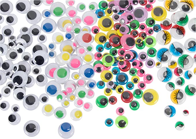 Mini Wiggle Eyes Black Small Plastic Round Moving Googly Eyes for Children School Classroom Arts /& Crafts Models 500 Eyes