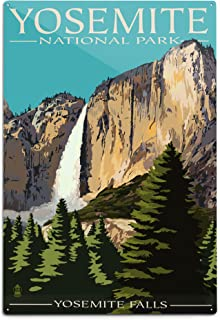 product image for Lantern Press Yosemite National Park, California, Yosemite Falls (12x18 Aluminum Wall Sign, Wall Decor Ready to Hang)
