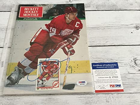 9d2f11b92 Image Unavailable. Image not available for. Color  Steve Yzerman Signed  Beckett Detroit Red Wings ...