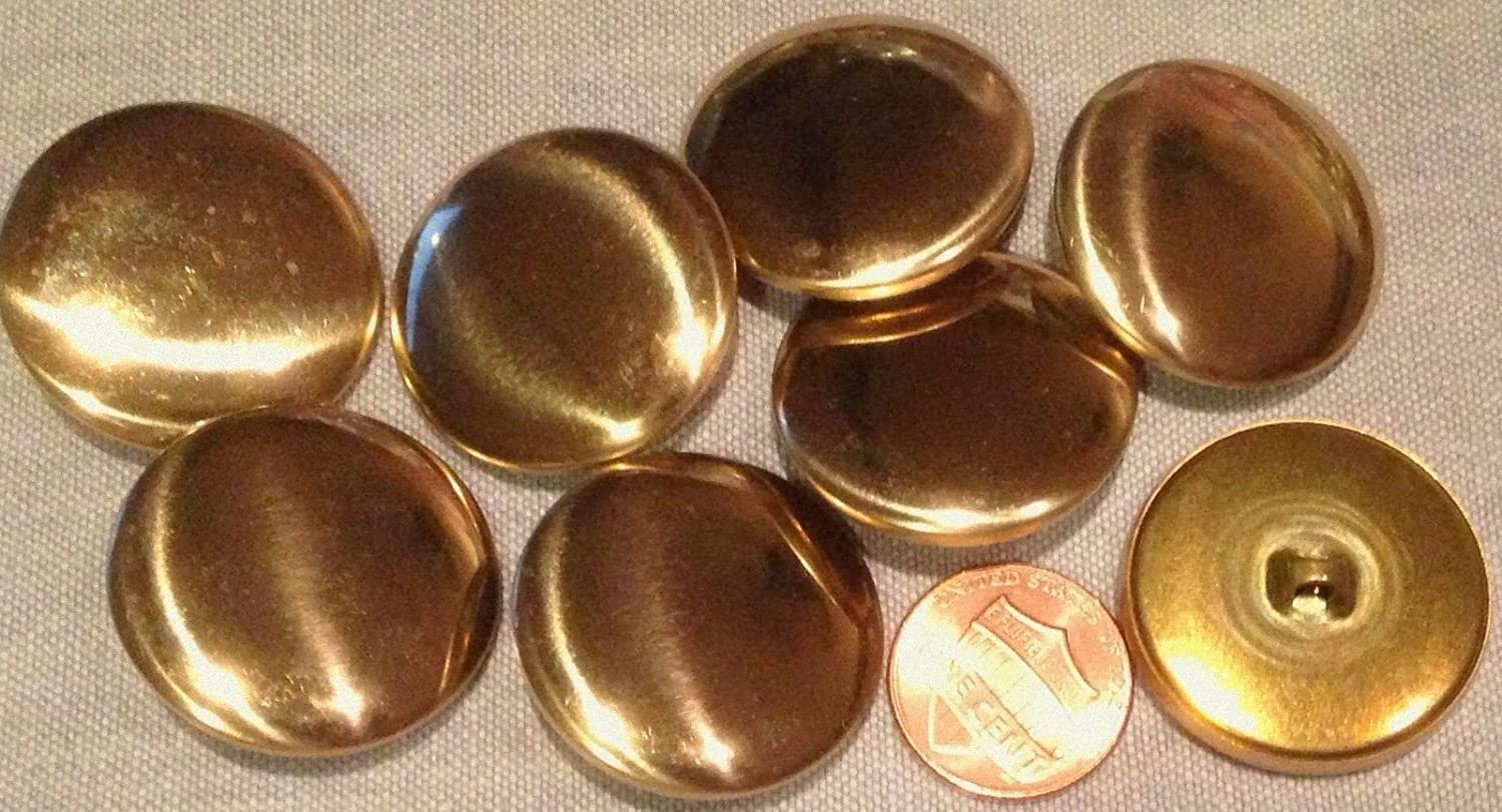 """15 Brass Tone Metal Shank Buttons Hollow 1/"""" New Free Shipping"""