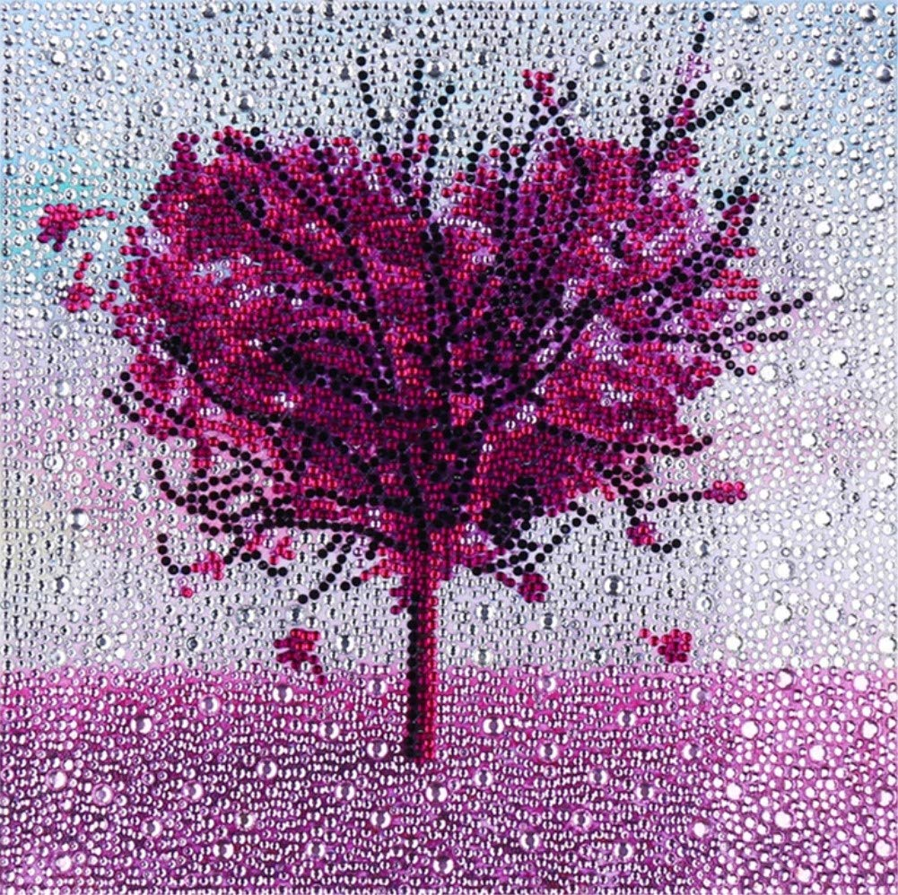 XYEBS DIY 5D Diamond Painting by Number Kit for Children Adults Crystal Resin and Special Shaped Drill Embroidery Dotz Kit Cross Stitch Arts Craft Canvas Wall Decor-Gold Tree 12x12 inches