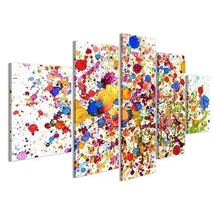 Quadro moderno impianto colorato Stampa su tela - Quadro x poltrone ...