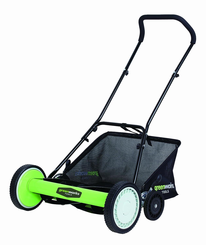 Greenworks Tools 25327 - Cortacésped manual de jardinería, color ...
