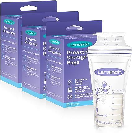 Amazon.com: Lansinoh Bolsas de almacenamiento de leche ...