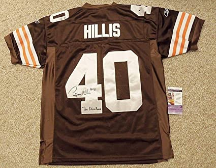 Nice Peyton Hillis Autographed Signed OnField Reebok Cleveland Browns  hot sale