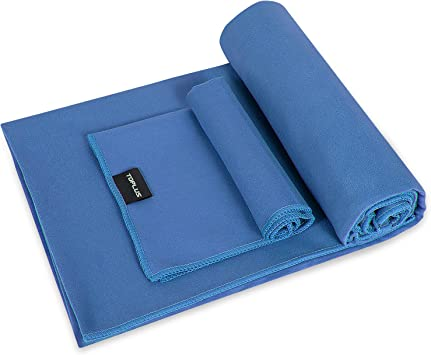 TOPLUS Yoga Towel - Sweat Absorbent Non-Slip Hot Yoga Towel + Hand Towel 2in1 Set, Microfiber, Super Soft, Best Yoga Mat Towel for Bikram Hot Yoga, ...