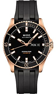 efa3babce16 Mido Ocean Star Captain V M026.430.37.051.00 Black   Black Rubber Analog  Automatic