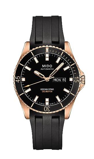 c3c3df0109c1 Mido Ocean Star Captain V Reloj de hombre automático 42.5mm correa de goma  color negro