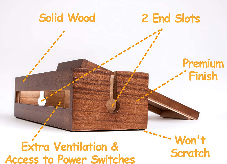 Caja organizadora de cables de madera – Cómodo organizador de ...