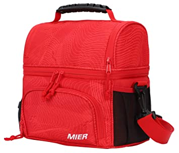 6b20ff46d405 Image Unavailable. Image not available for. Color  MIER Insulated Lunch Bag  Tote for Women Men ...