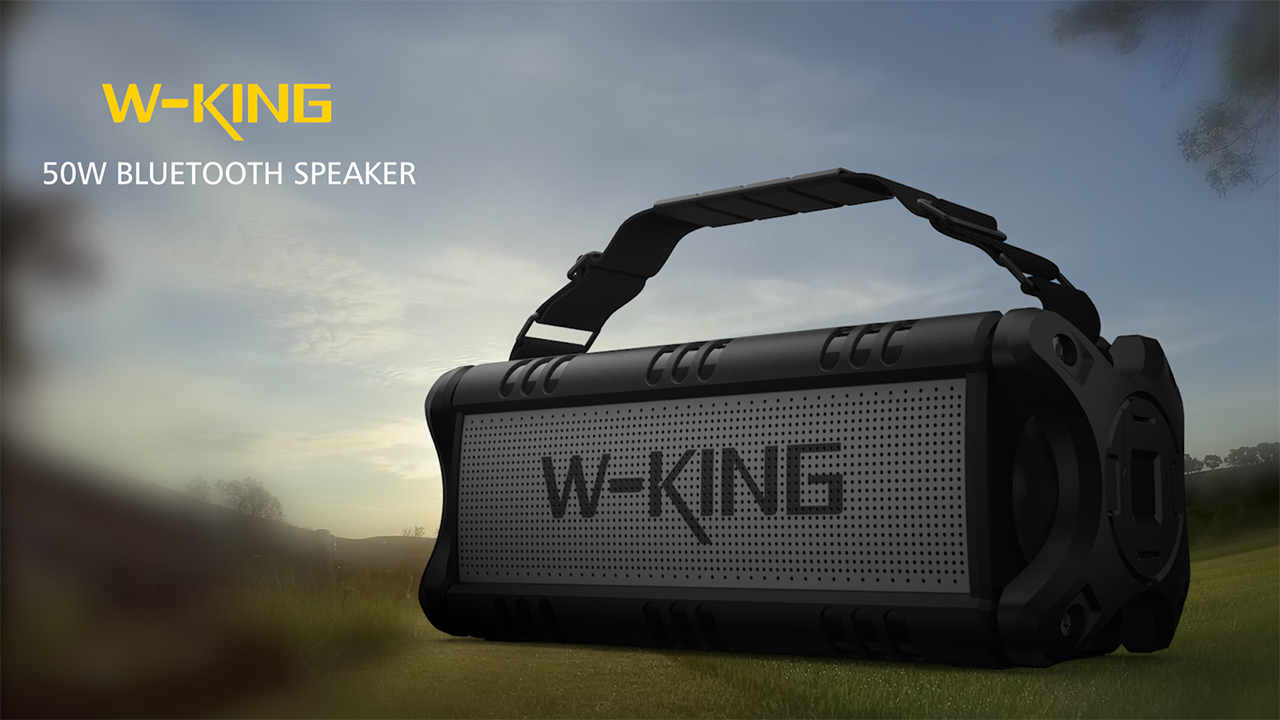 W-KING Outdoor Portable Waterproof Bluetooth Speaker 50W for Camping