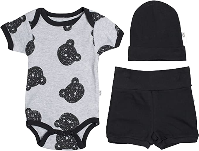 Snugabye Newborn Layette 4 Piece Sleep and Play Outfit Footie Baby Gift Set