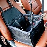 Black Pet Booster Car Seat - MiniTeasure Breathable Car Seat for Cat Mesh Booster Pet Car Seat Pet Sofa Bed for Small /Medium Dog and Cat Waterproof Material Pet Safety Car Seat Pet Booster Car Seat