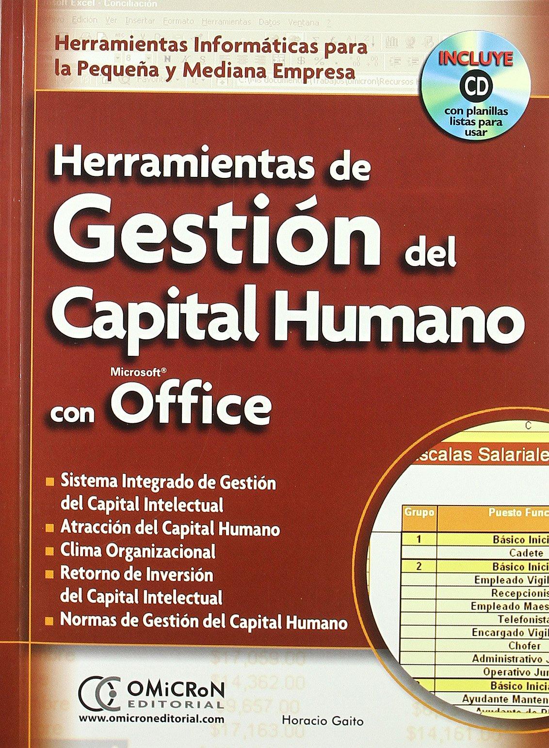 Download Herramientas de Gestion del Capital Humano Con Microsoft Office: Herramientas Informaticas Para la Pequena y Mediana Empresa with CDROM (Spanish Edition) ebook
