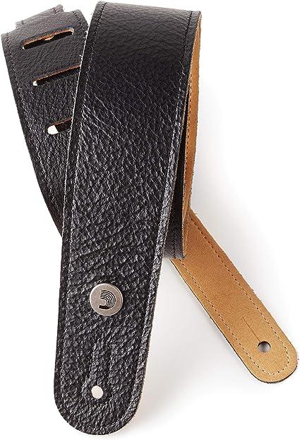 "D/'Addario Planet Waves Garment Leather Guitar Strap Slim Design 2/"" Wide Brown"
