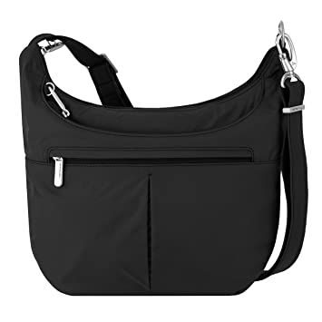 68e4615b3 Amazon.com: Travelon Anti-Theft Classic Slouch Hobo, Black, One Size: MMP  Living