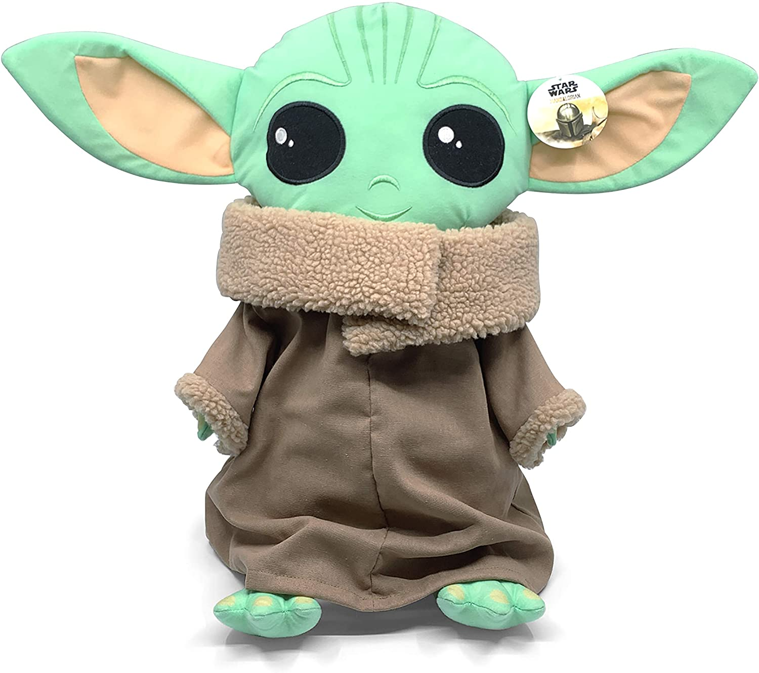 Amazon Com Plush Star Wars The Mandalorian Baby Yoda Pillow Toys Games