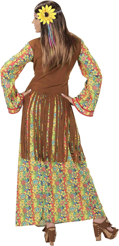 WIDMANN Disfraz de hippie para Mujer, Multicolor, Large: Amazon.es: Juguetes y juegos