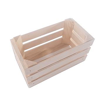 SEARCHBOX Pequeñas Cajas de Madera (Rectangular Estante de exhibición/Caja Craft DIY/sin pintar/23,5 x 12 x 12,3 cm: Amazon.es: Hogar