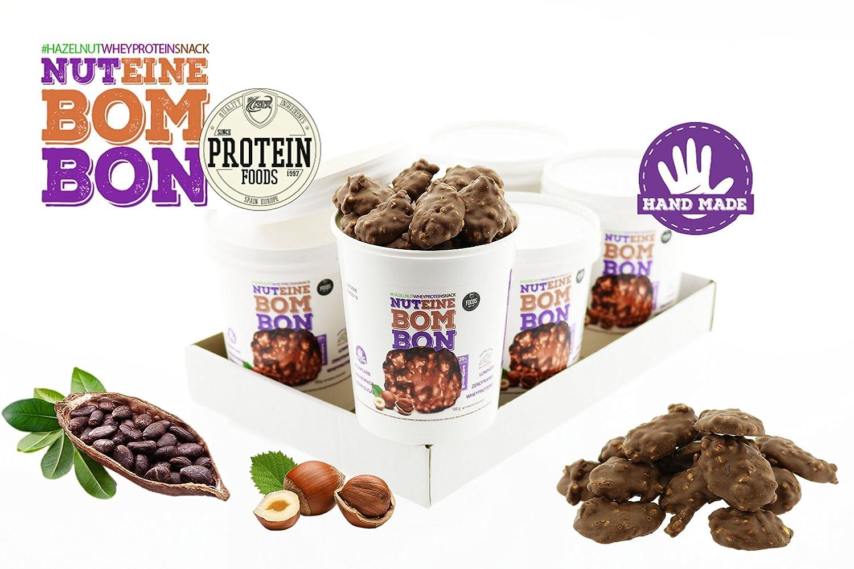 Nuteine Bombon PACK DE 6 x (100Gr) PROTEIN SNACK chocolate con leche ...