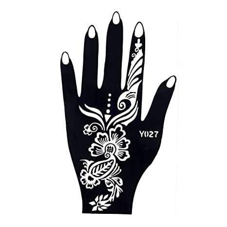 mehndi tatuaje plantilla para la mano mehndi Tatuajes AU henné027 ...
