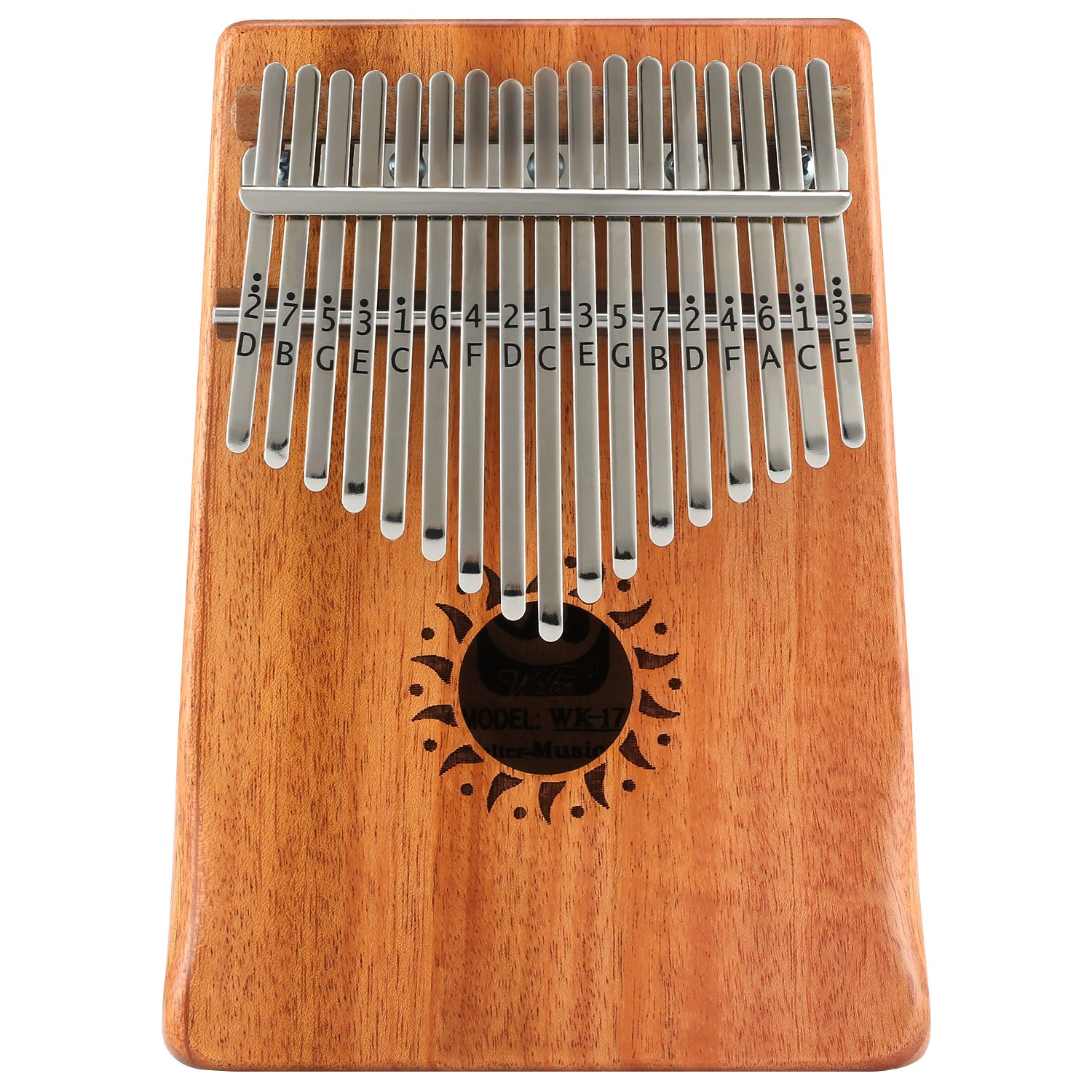 Donner 17 Key Kalimba Thumb Piano Solid Finger Piano Mahogany Body DKL-17 With Hard Case by Donner (Image #2)