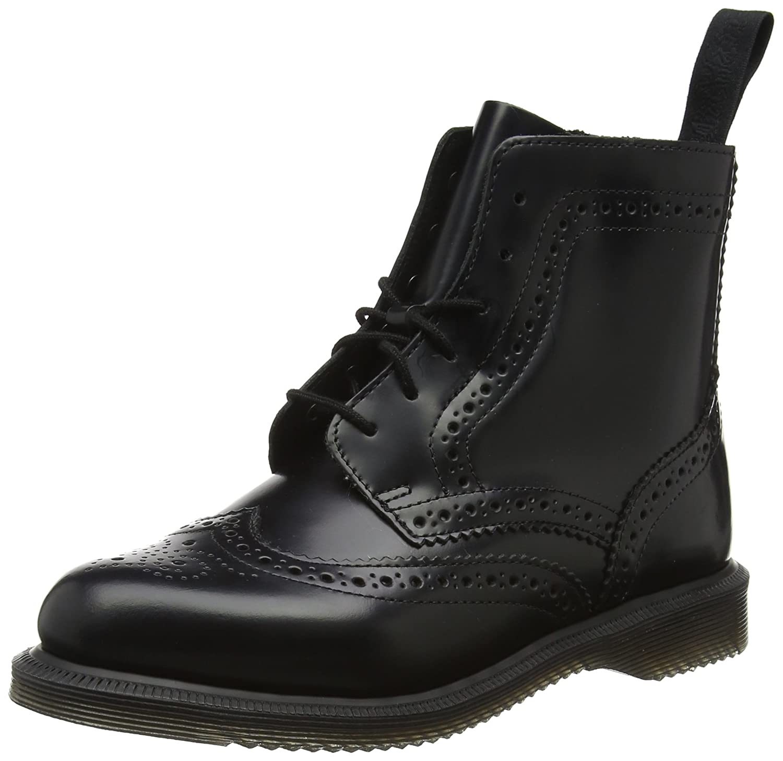 Dr. Martens Women's Delphine Fashion Boot B01MZ4TMGH 4 Medium UK (6 US)|Black Polished Smooth Leather
