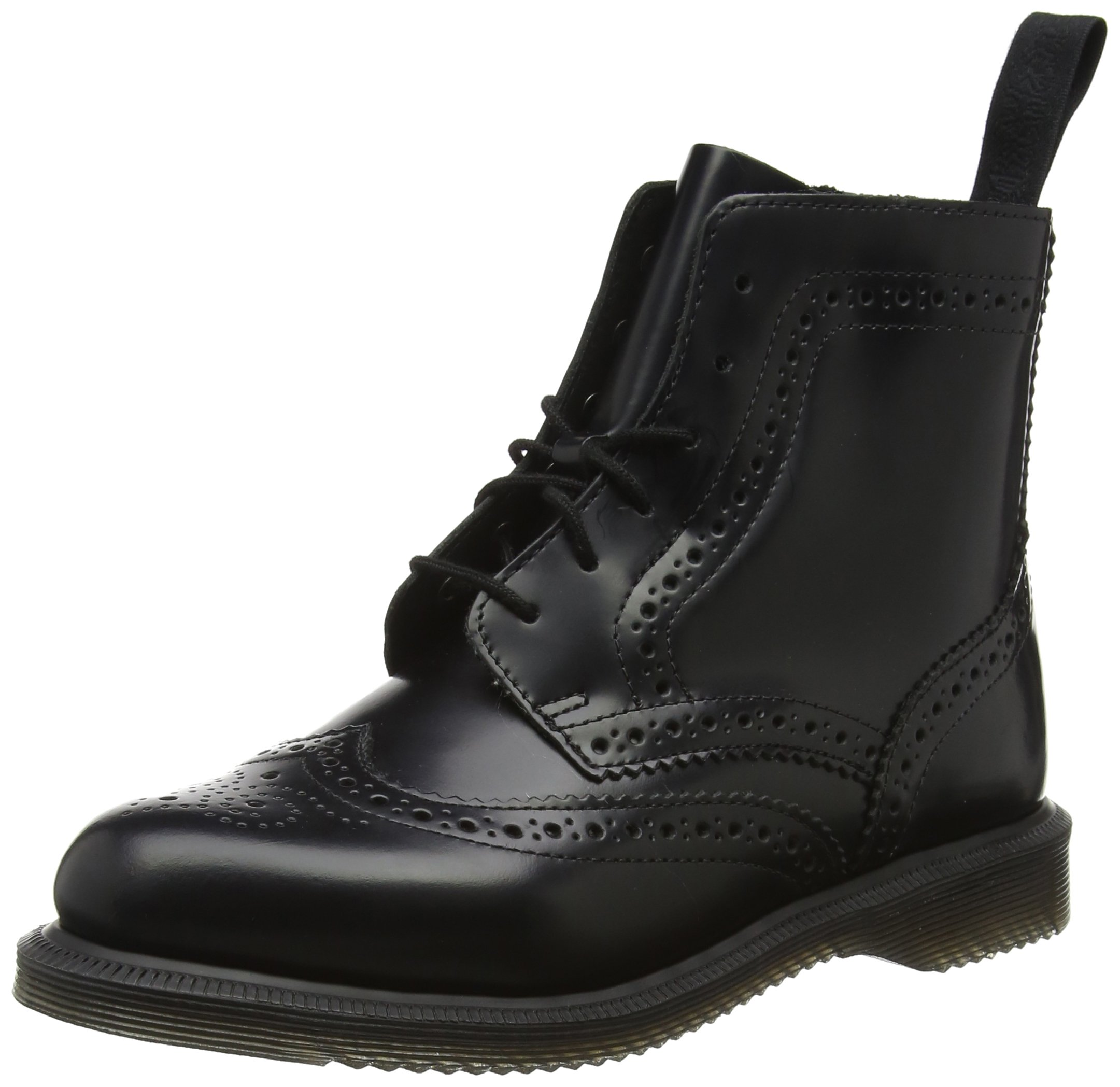 Dr. Martens Women's Delphine Fashion Boot, Black Polished Smooth Leather, 5 Medium UK (7 US)