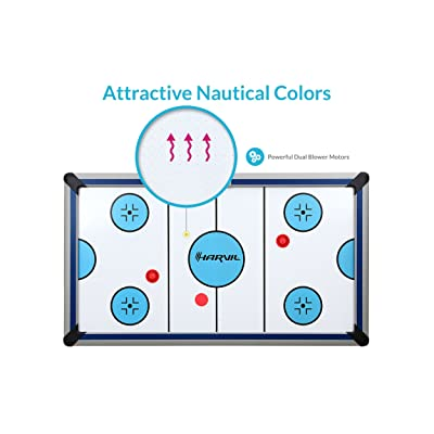 Harvil 7 Foot Air Hockey Table Full Size for Kids and Adults with Powerful Dual Electric Blowers, Paddles and Pucks - 3
