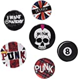 GB eye BP0365 Union Jack Punk Badge Pack, Multi-Colour