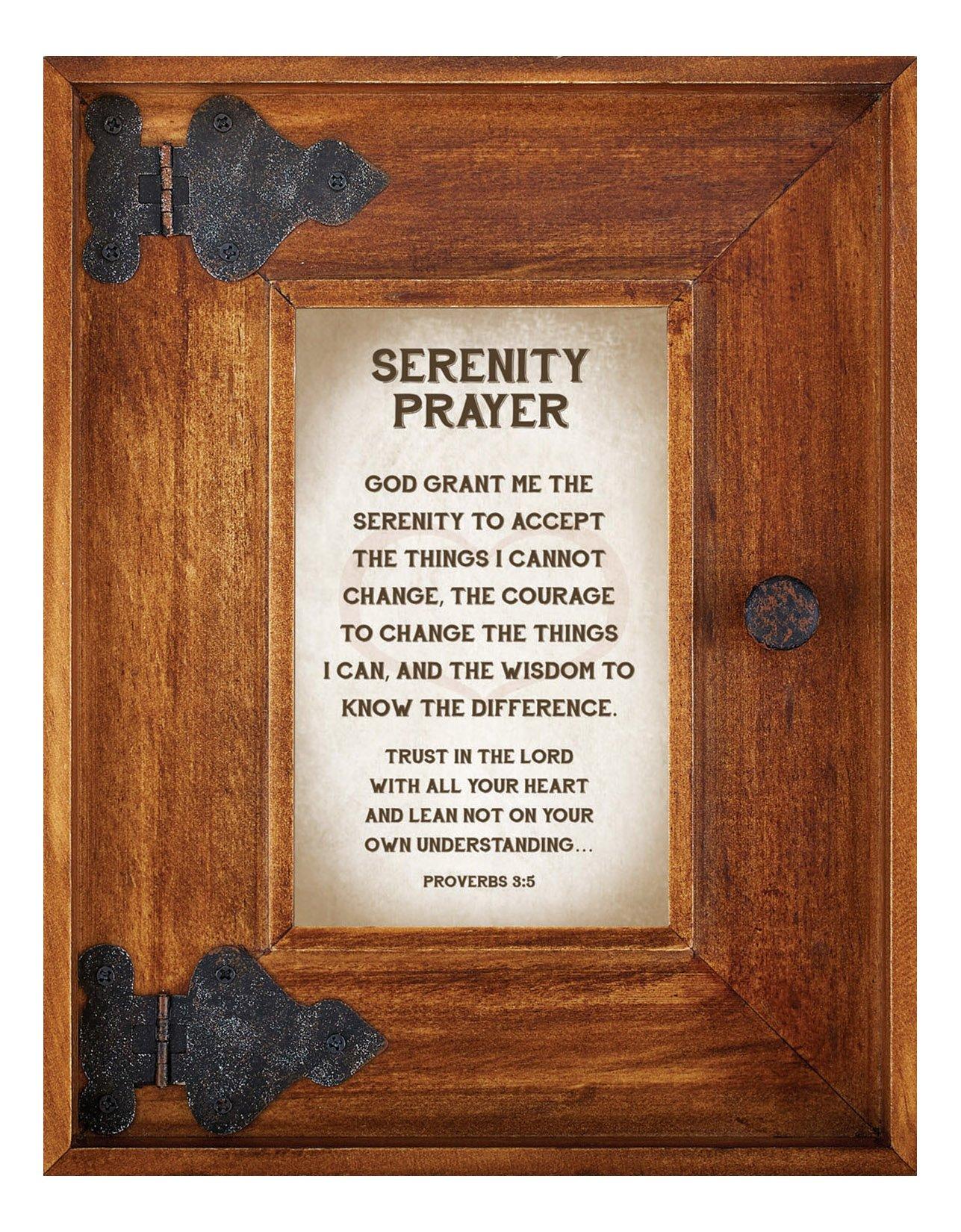 LoveLea Down Home Collection Tabletop Frame, Serenity Prayer