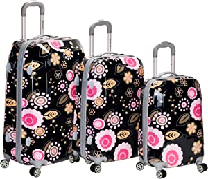Rockland Vision Hardside Spinner Wheel Luggage, Pucci, 3-Piece Set (20/24/28)