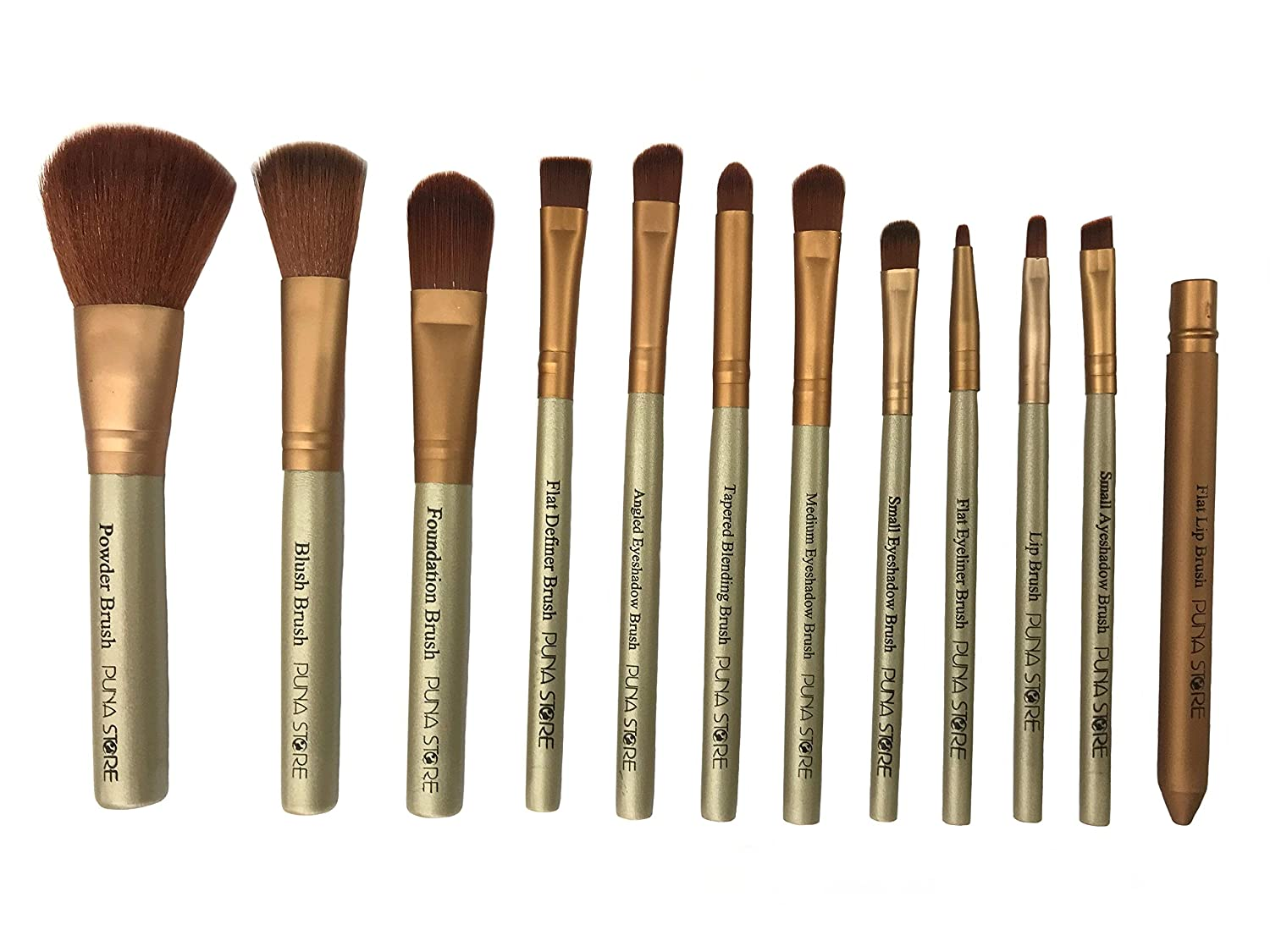 Puna Store 12 Piece Makeup Brush Set (Beige) at Rs 199 only