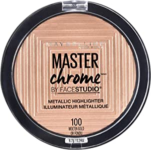 Maybelline Master Chrome Metallic Highlighter Powder - Molten Gold,4.5g