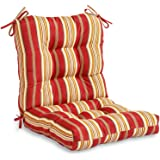 Greendale Home Fashions Indoor/Outdoor Seat/Back Chair Cushion, Roma Stripe