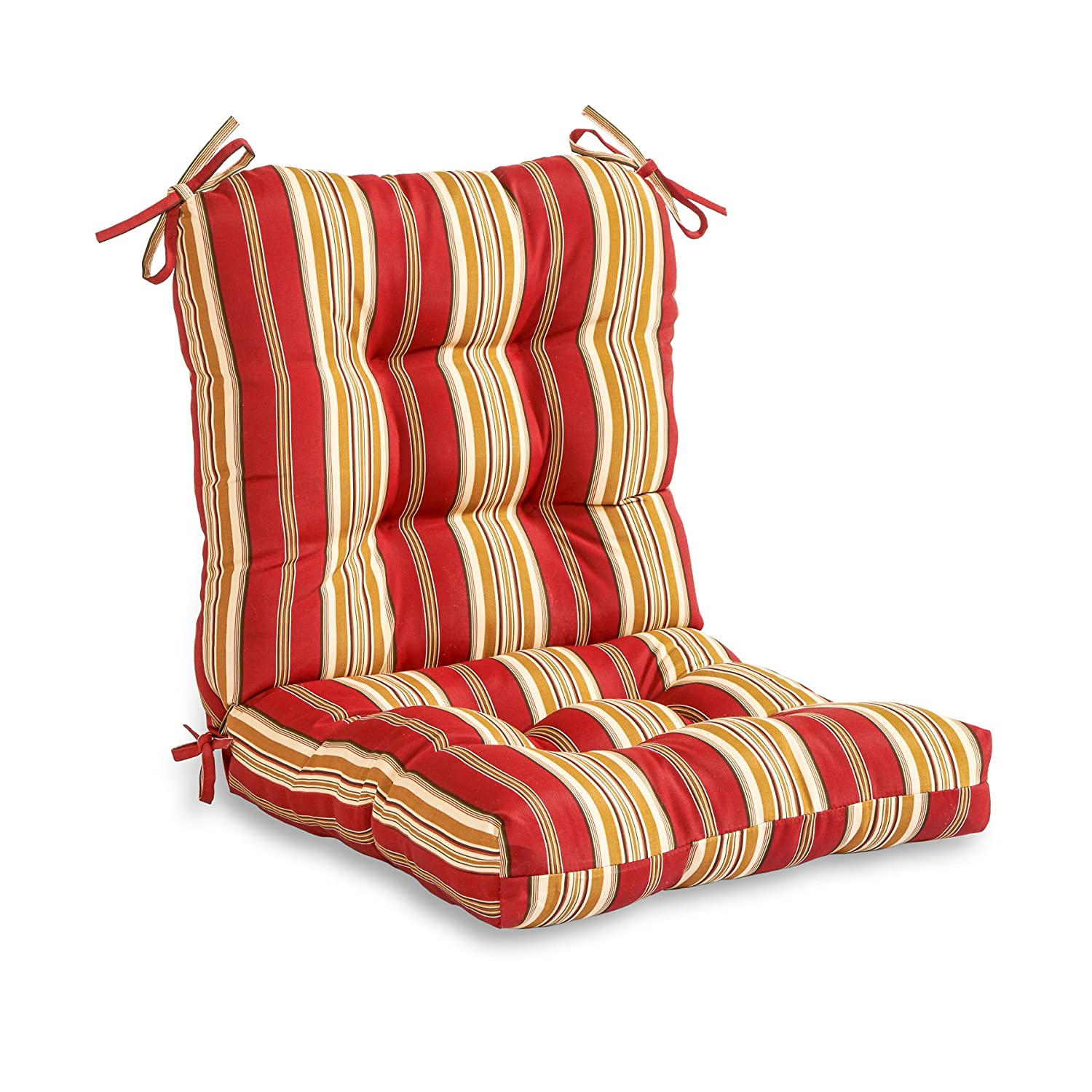 Greendale Home Fashions Outdoor Seat/Back Chair Cushion, Roma Stripe - Patio Furniture Cushions Amazon.com
