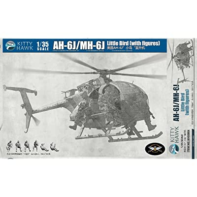 Kitty Hawk KH50004 1/35 AH-6M/MH-6M Night talker, with 6 Crew Figures, Version 2.0, Model Kit: Toys & Games