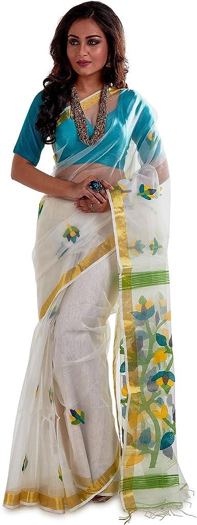 Soft muslin silk with weaving rich pallu saree and blouse for women black saree wedding saree saree dress indian saree designer saree