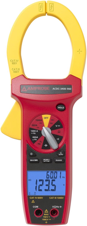Amprobe ACDC-3400 IND Pinza amperimétrica, CA/CC CAT IV - Medidor ...
