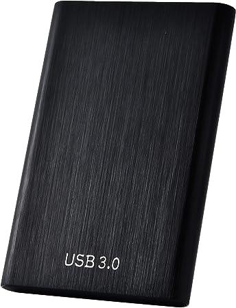 2 TB negro Disco duro externo port/átil de 1 TB 2 TB USB 3.1 tipo C compatible con Mac port/átil y PC