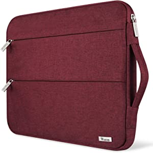 Voova 11 11.6 12 Inch Laptop Sleeve Chromebook Case Cover Compatible with MacBook Air 11, Mac 12, Surface Pro X 7 6 5 4, Samsung Hp Acer Asus Computer Protective Bag with Handle,Water Resistant, Red