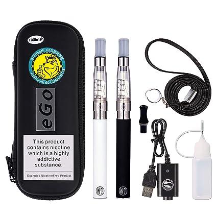 WOLFTEETH 2 Paquete de 1100mah Ego CE4 Cigarrillo electrónico kit de iniciación con indicador de energía