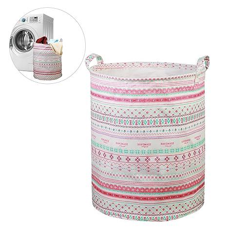 LANMOK cestos para la colada impermeable cubo plegable de ropa sucia de boho guardar los juguetes