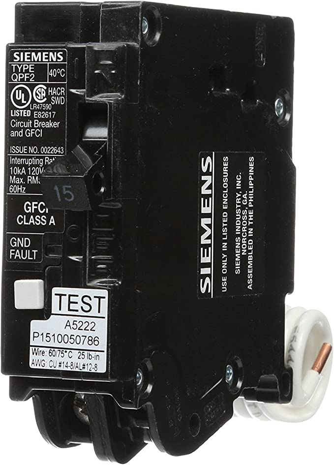 QF115 Siemens ITE Type QPF Circuit Breaker 1 Pole 15 Amp 120V