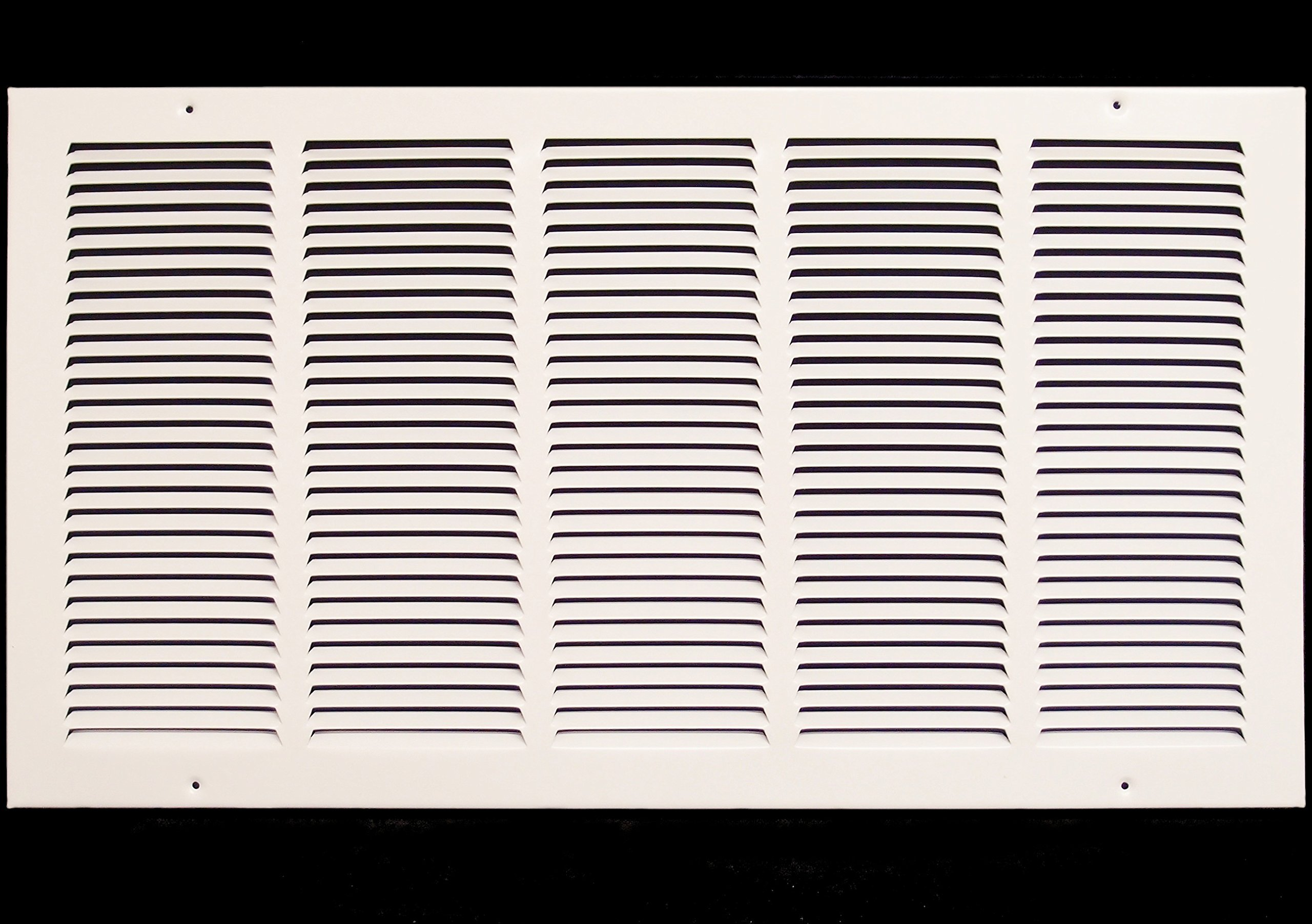 26''w X 14''h Steel Return Air Grilles - Sidewall and Cieling - HVAC DUCT COVER - White [Outer Dimensions: 27.75''w X 15.75''h]