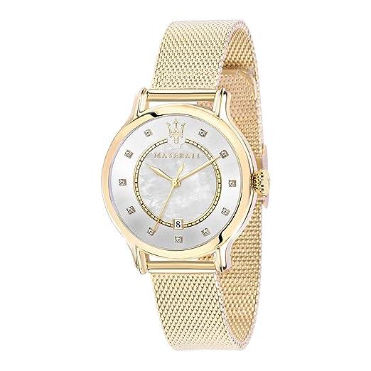 MASERATI Reloj Analógico para Mujer de Cuarzo con Correa en Acero Inoxidable R8853118502: Amazon.es: Relojes