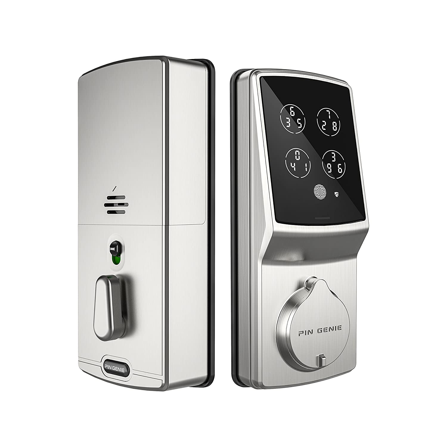 PIN Genie Keyless Digital Door Lock (PGD718) with Highly Secure Patented Touchscreen | Discrete PIN Code Input | Keypad Deadbolts Smart Home Entry | Satin Nickel