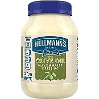 Hellmann's Mayonnaise Dressing, with Olive Oil, 30 oz